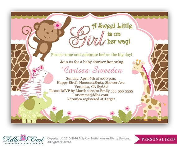 best  safari invitations ideas on   zoo animal party, Baby shower invitation