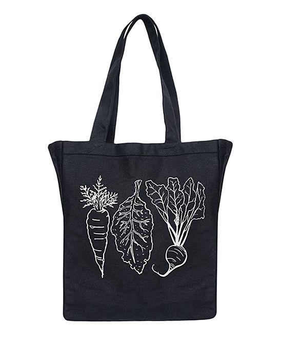 Black Carrot Kale & Beet Canvas Tote