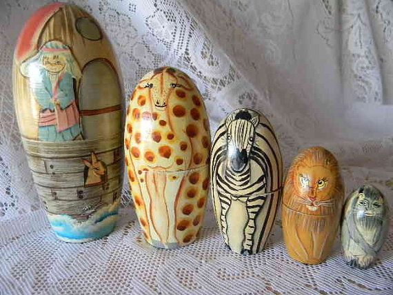 Noah's Ark nesting dolls! So cute