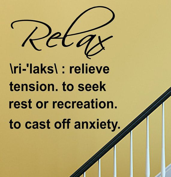 SlapArt Relax Definition Wall Art Decal by VinylMasterpieces, $15.99