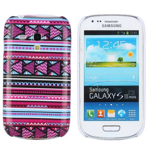 Modern paars aztec hoesje Samsung Galaxy S3 mini