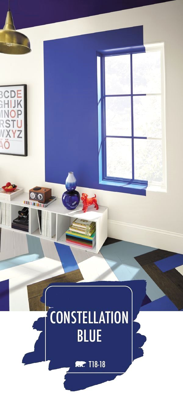 Add A Bold Splash Of Color To The Interior Design Your Home With Deep Navy Hue Constellation Blue By Behr Paint Curated From 2018