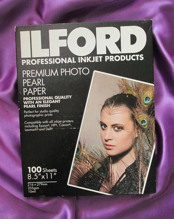 ILFORD Sealed Box Inkjet Printer 100 Sheets 8.5 x