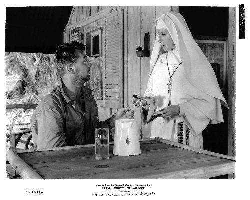 Deborah Kerr and Robert Mitchum in Heaven Knows Mr. Allison 1957