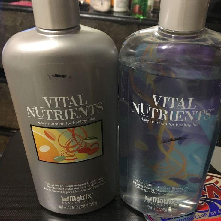Matrix Vital Nutrients Body Fusion Extra Volume Conditioner & Fusion Shampoo #Matrix