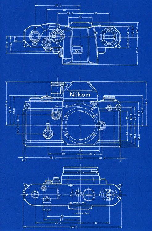 Office wallpapering or framing vintage camera blueprint for Engineering blueprints