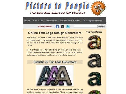 Picture To People, une suite d'applications en ligne pour modifier des photos
