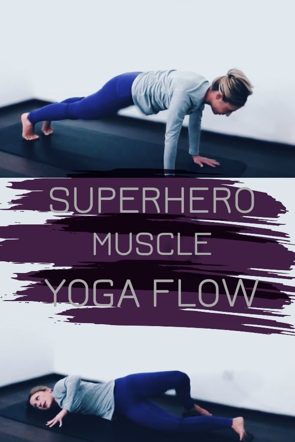 A yoga video to work your superhero muscle - let's sweat & yoga