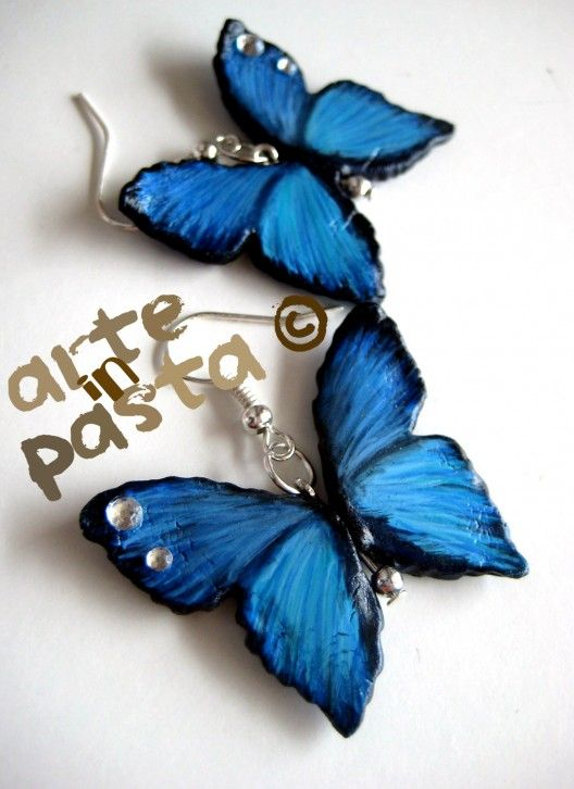 Arteinpasta - Creazioni Artigianali in Pasta di Mais - Orecchini farfalle handmade