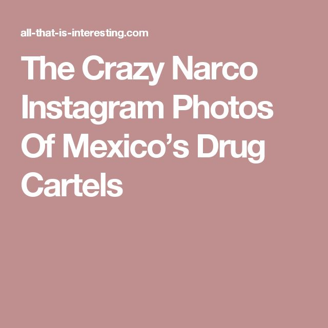 The Crazy Narco Instagram Photos Of Mexico's Drug Cartels