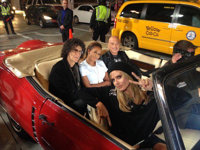 Howard, Mel B., Howie and Heidi   #AGT