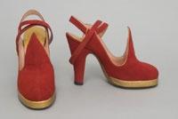Newton Elkin Shoe Company, 1947. Philadelphia Museum of Art.1940 S, Elkins Shoes, Shoes Company, Red Shoes, Woman Shoes, Philadelphia Museums, 1940S Shoes, Newton Elkins, Lace Dresses