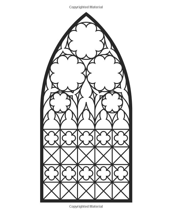 55 best images about icolor stained glass windows on for Window coloring page