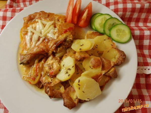 -ZAPEČENÉ KOTLETY-(lečo,sýr,slanina,šlehačka)...fotopostup