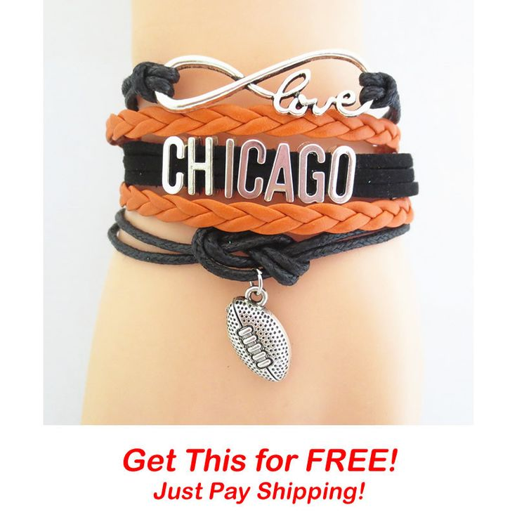 Infinity Love Chicago Football Bracelet Giveaway Event! – DilyDalee