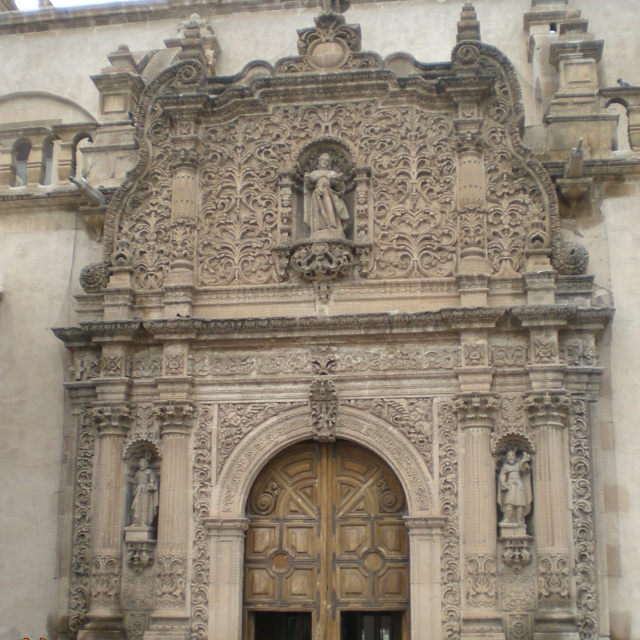 Chihuahua city zona centro cathedral.