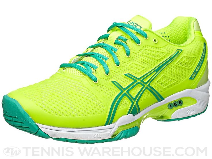 asics gel solution speed 2 yellow mint s shoes