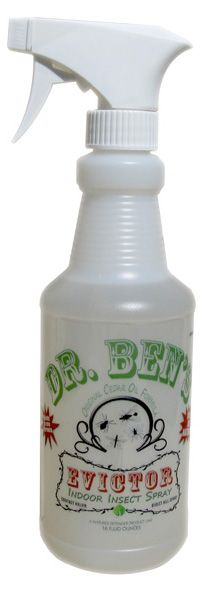 DR. BEN'S EVICTOR Cedar Oil Insect Control Ready-to-Use - 16 oz. Spray  Evictor is a Ready-to-Use formula. No mixing or measuring here. This cedar oil solution is primarily   for indoor pest control treatment. Provides blanket protection for bed bugs, mosquitos, scorpions,   fleas, ticks, mites, no-see-em's and virtually all non-essential pests. $21.95   http://dgcedaroil.com/Merchant5/merchant.mvc?Session_ID=a224ddb9188aaeef01bd4e1701163c0b=SFNT_Code=DGCO=tflpin