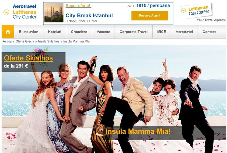 skiathos the home island of Mamma Mia movie