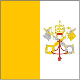 Vatican City - Flag of the smallest country in the world by both land area and population.