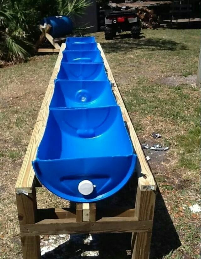 Here's an idea for a safe hay/grain feeder.