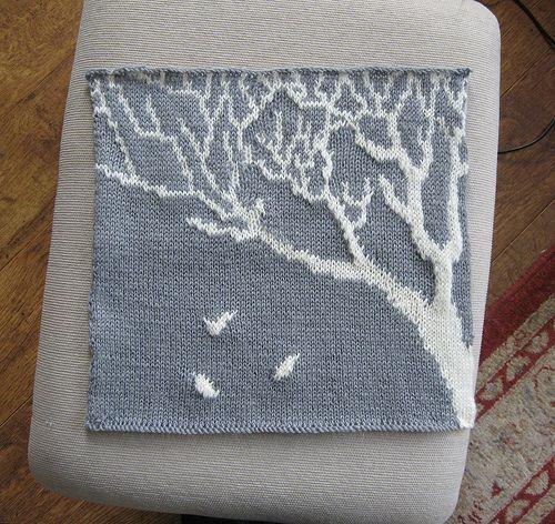 Bare Trees - Intarsia knitting design