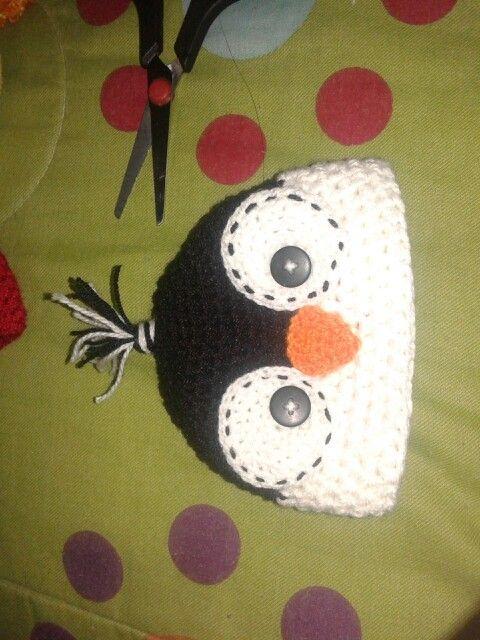 gorrito de pinguino