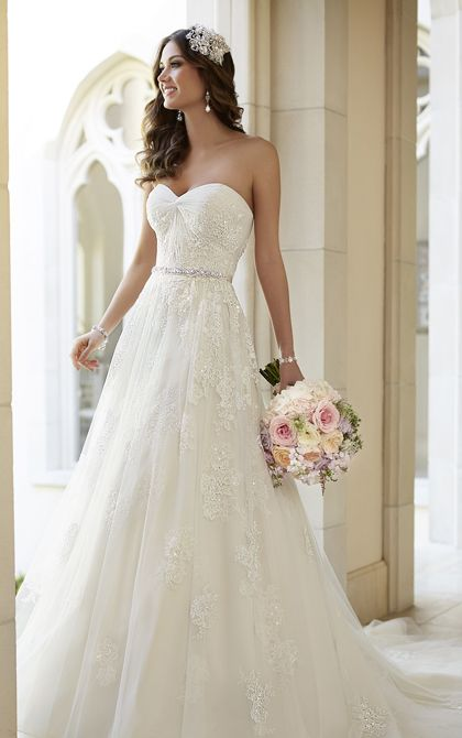 Wedding Dresses - Vintage Inspired A-Line Wedding Dress by Stella York - Style 5968