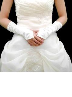 Gants Satin Fingerless Gants de mariée Elbow Longueur (014004097)