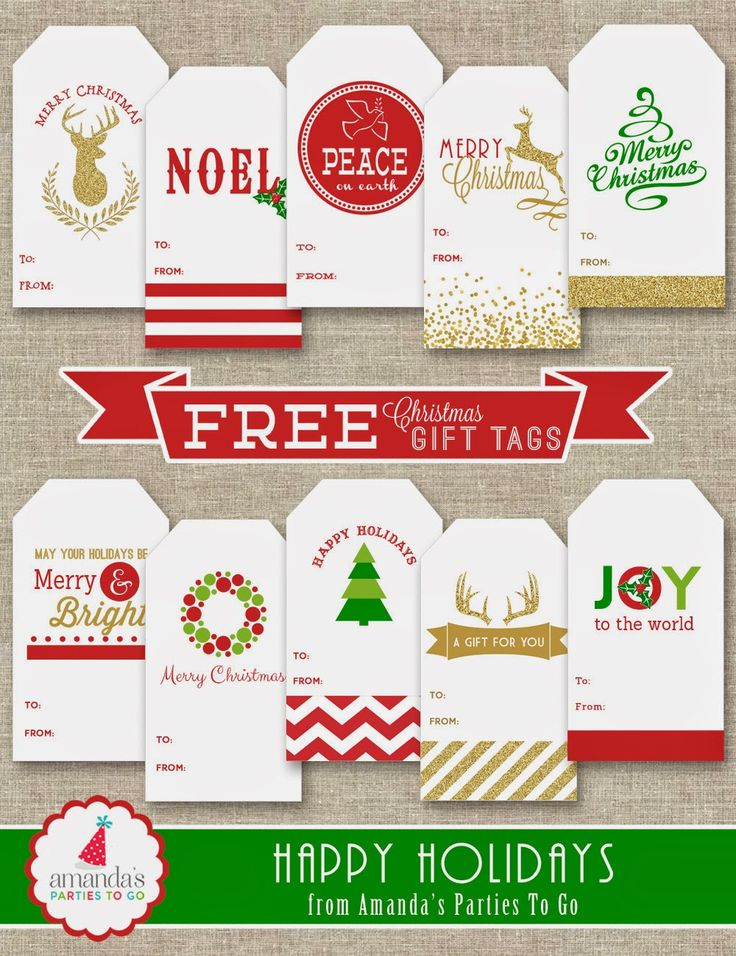 Free Christmas Gift Tag Printables                                                                                                                                                                                 More