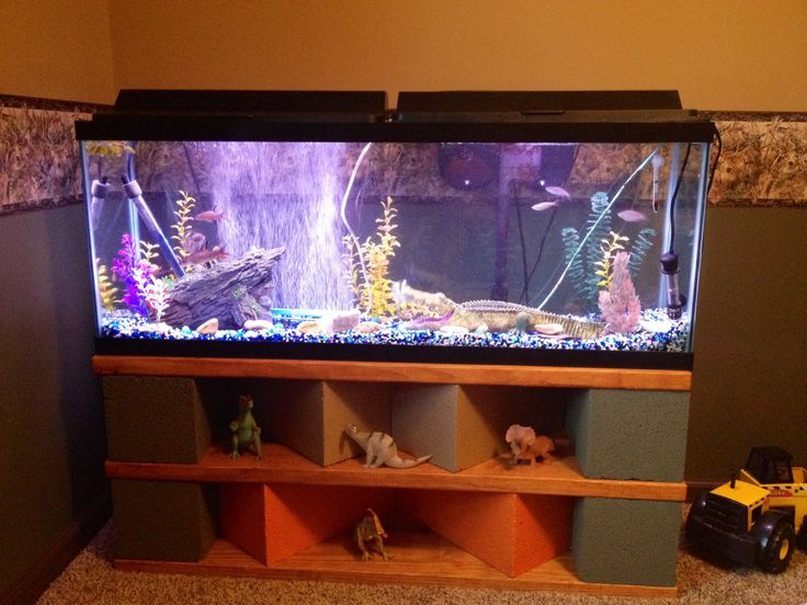 Pinspired diy aquarium stand i did it i did it for Fish tank table stand