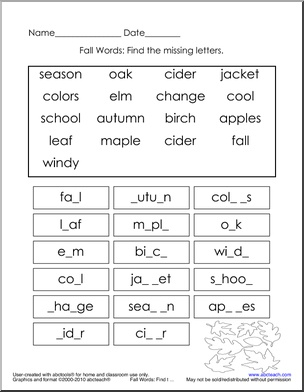 fall autumn theme unit free printable worksheets games and activities for kids