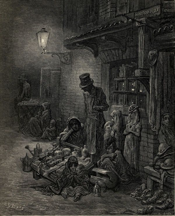 Gustave Dore's drawing of the Still & Star, 1880, from 'London: A Pilgrimage'