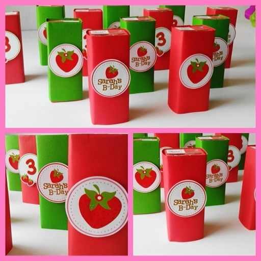 Jugos de caja personalizados Strawberry Party