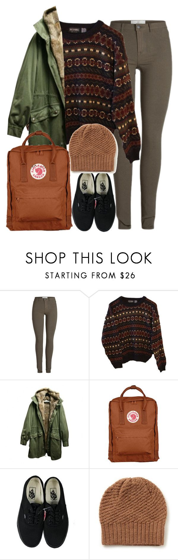 """Eva Mohn (Season 1) - Skam"" by travelerofthenight ❤ liked on Polyvore featuring INDIE HAIR, Yves Salomon, Fjällräven, Vans and KG Kurt Geiger"
