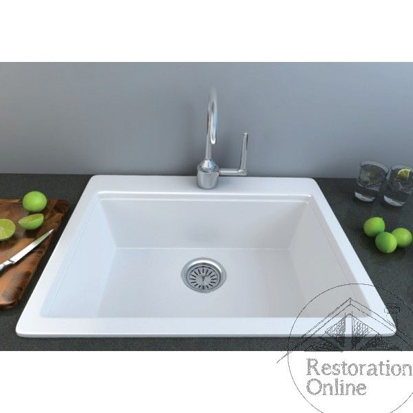 Harsa Lab Sink with Tap Hole - 635 x 555 mm - Including Basket Waste