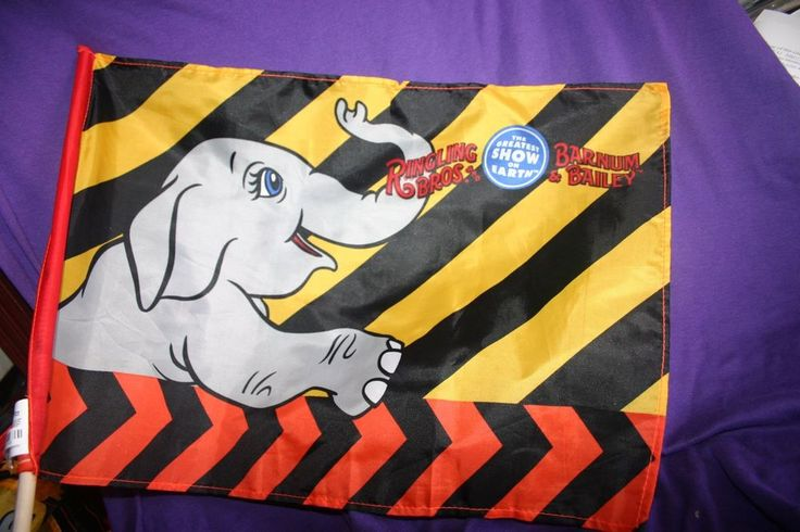Ringling Brothers & Barnum Bailey Circus 143rd Flag with Elephant