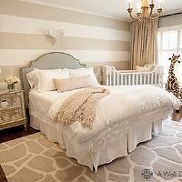 A Well Dressed Home - nurseries - nursery guest room, guest room nursery, striped walls, striped nursery walls, striped boys nursery, white ...