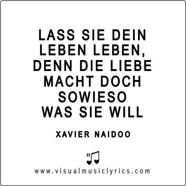 XAVIER NAIDOO – LASS SIE DEIN #LEBEN LEBEN, DENN DIE #LIEBE MACHT DOCH SOWIESO WAS SIE WILL – #VISUAL #MUSIC #LYRICS #VISUALMUSICLYRICS #LOVETHISLYRICS #SPREADHOPE