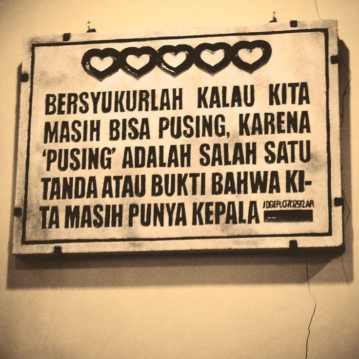 Bersyukur versi si Joger - Bali
