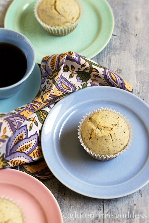 Lemony gluten-free poppy seed muffins with whole grain goodness. ---Maybe change to