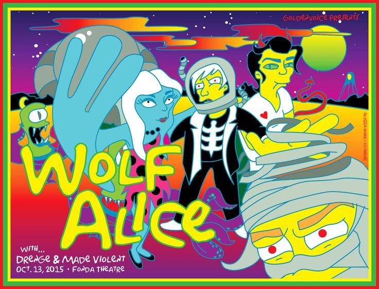 Wolf Alice - Simpsons Fonda Theater 2015 Gig Poster