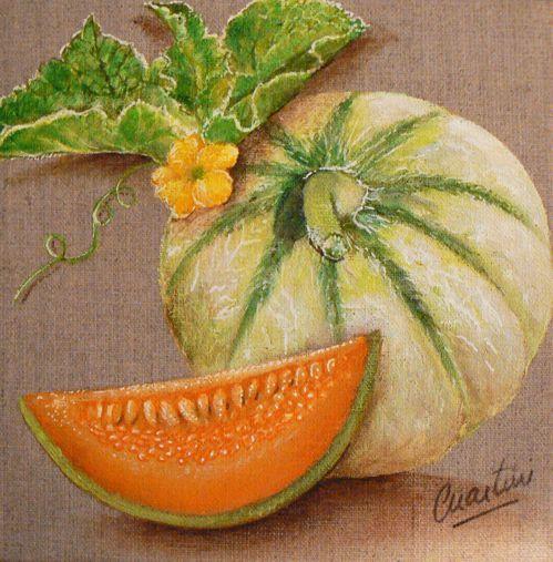 Tableau melon que j'ai réalisé pour une productrice !