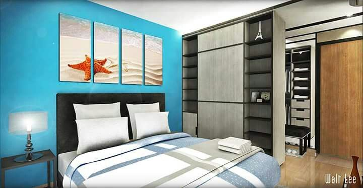 Interior Design Hdb 4 Room Segar Meadows Master Bedroom With Mini Walkin Wardrobe Interior
