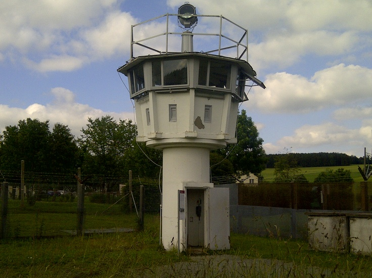 Watchtower (reduced height!!) at the open air museum at Mödlareuth, Germany