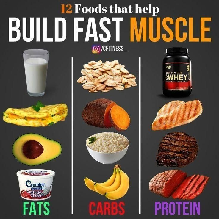 building gaining muscle clean foods good