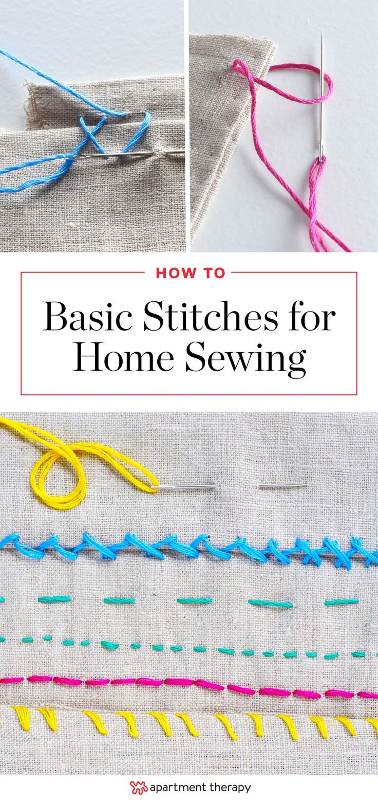 How To Sew by Hand: 6 Helpful Stitches for Home Sewing Projects | There are many amazing DIY projects that require a bit of sewing, but that doesn't mean you have to run right out and purchase a sewing machine! Much can be done by hand, so we've rounded up six common stitches that can be used on a myriad of projects for home decor, complete with step-by-step photo tutorials.