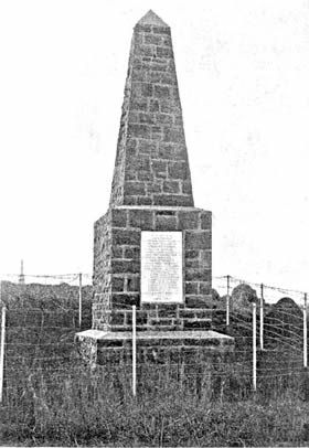 The Devonshire Regiment Memorial at Ladysmith, South Africa