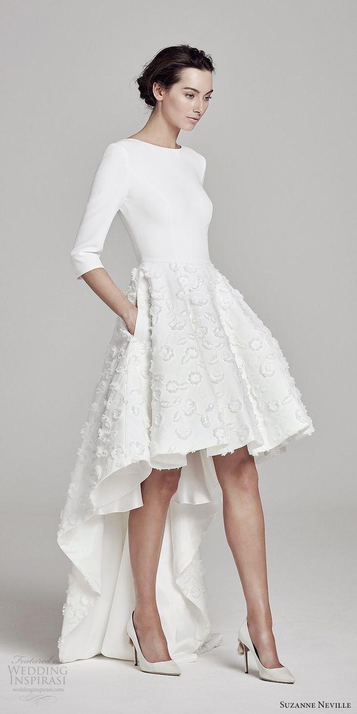 Suzanne Neville 2019 Wedding Dresses Wedding Inspirasi Midi Wedding Dress Short Wedding Dress Modern Wedding Dress