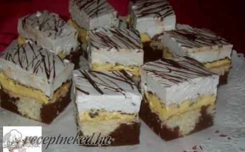 Kókuszos-habgaluskás krémes sütemény recept fotóval